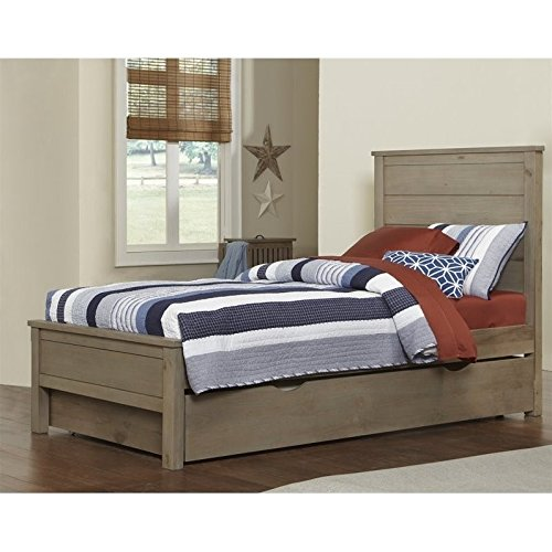 Alex Trundle Twin Bed - NE Kids Highlands Alex Twin Panel Bed with Trundle in Driftwood