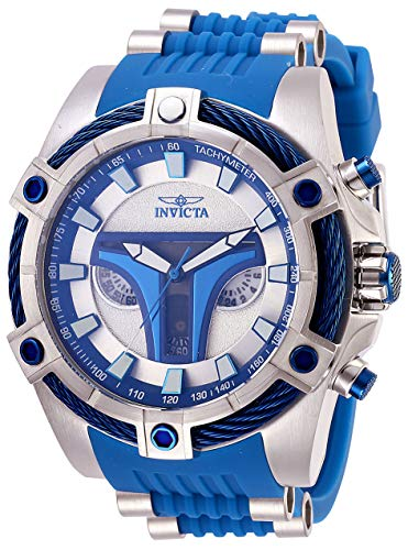 (Invicta Men's Star Wars Stainless Steel Quartz Watch with Silicone Strap, Blue, 26 (Model:)