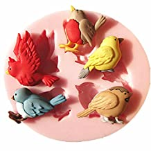 FVIEW Bird Silicone Fondant Cake Mold Chocolate Mould Kitchen Baking Tools