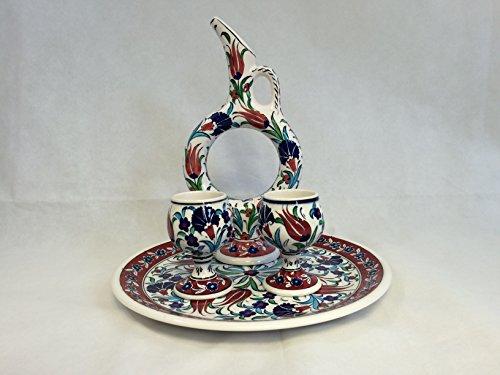 Handmade Ceramic Hittite Coffee/Tea/Wine Jug Set: Hittite Jug/Decanter 12.5