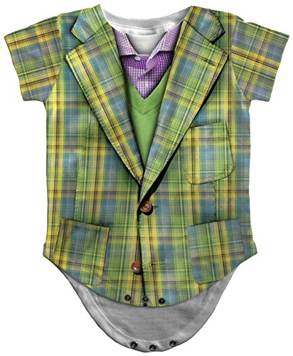 Baby Old Man Costumes (Infant: Plaid Suit Costume Romper Infant Onesie Size 18 Mos)