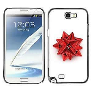 YiPhone /// Prima de resorte delgada de la cubierta del caso de Shell Armor - Red Christmas Decoration - Samsung Galaxy Note 2 N7100