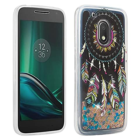 SOGA Moto G Play Case, Moto G4 Play Case, [Moving Sand Liquid interior] Shine Bling Sparkling Glitter TPU Bumper Cover Slim Protector Case for Moto G Play 4th Gen. [Drop Protection] - Dream (Bling Phone Cases For Moto G)