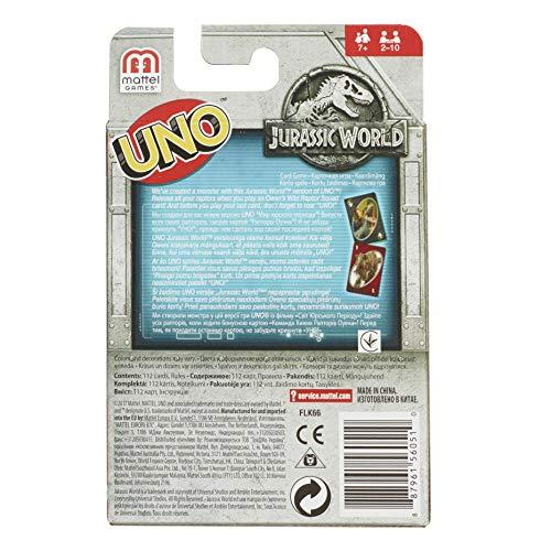 93346401e68 SHOPUS | Mattel Jurassic World Uno Card Game