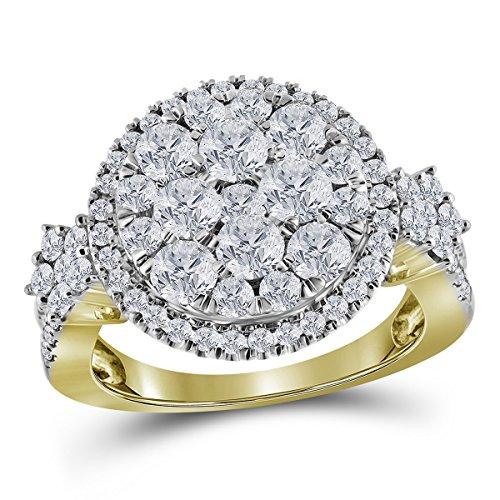 2 Ct Diamond Flower - 3