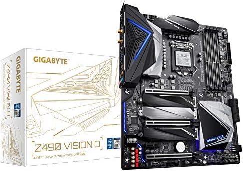 GIGABYTE Z490 Vision D (Intel LGA1200/Z490/ATX/3xM.2/Dual Thunderbolt 3/SATA 6Gb/s/USB 3.2 Gen 2/Intel WiFi 6/Direct 12 Phase Digital Power/Intel 2.5G LAN/Motherboard)