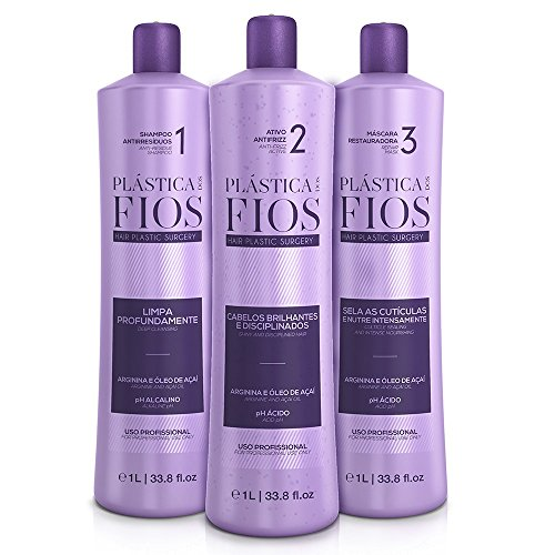 Cadiveu Plastica Dos Fios Kit 33.8oz/liter New Packaging Same Formula with Seal of Authenticity by Plastica dos Fios (Image #1)