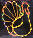 17 Lighted Thanksgiving Turkey Window Silhouette Decoration by Impact