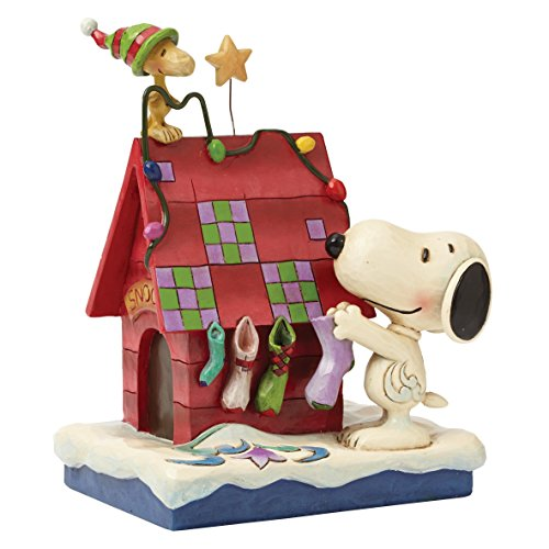 Jim Shore for Enesco Peanuts Snoopy and Woodstock Figurine, 6-Inch