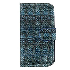 Esparto Fabric Pattern Faux Leather with Plastic Hard Back Cover Pouches for Samsung Galaxy S4 I9500 , Green