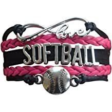 Infinity Collection Softball Bracelet- Girls Softball Jewelry - (12 Styles) Perfect Softball Player, Team and Coaches Gifts