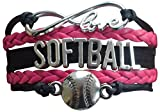 Softball Bracelet- Girls Softball Jewelry - (12 Styles)Perfect Softball Player, Team and Coaches Gifts