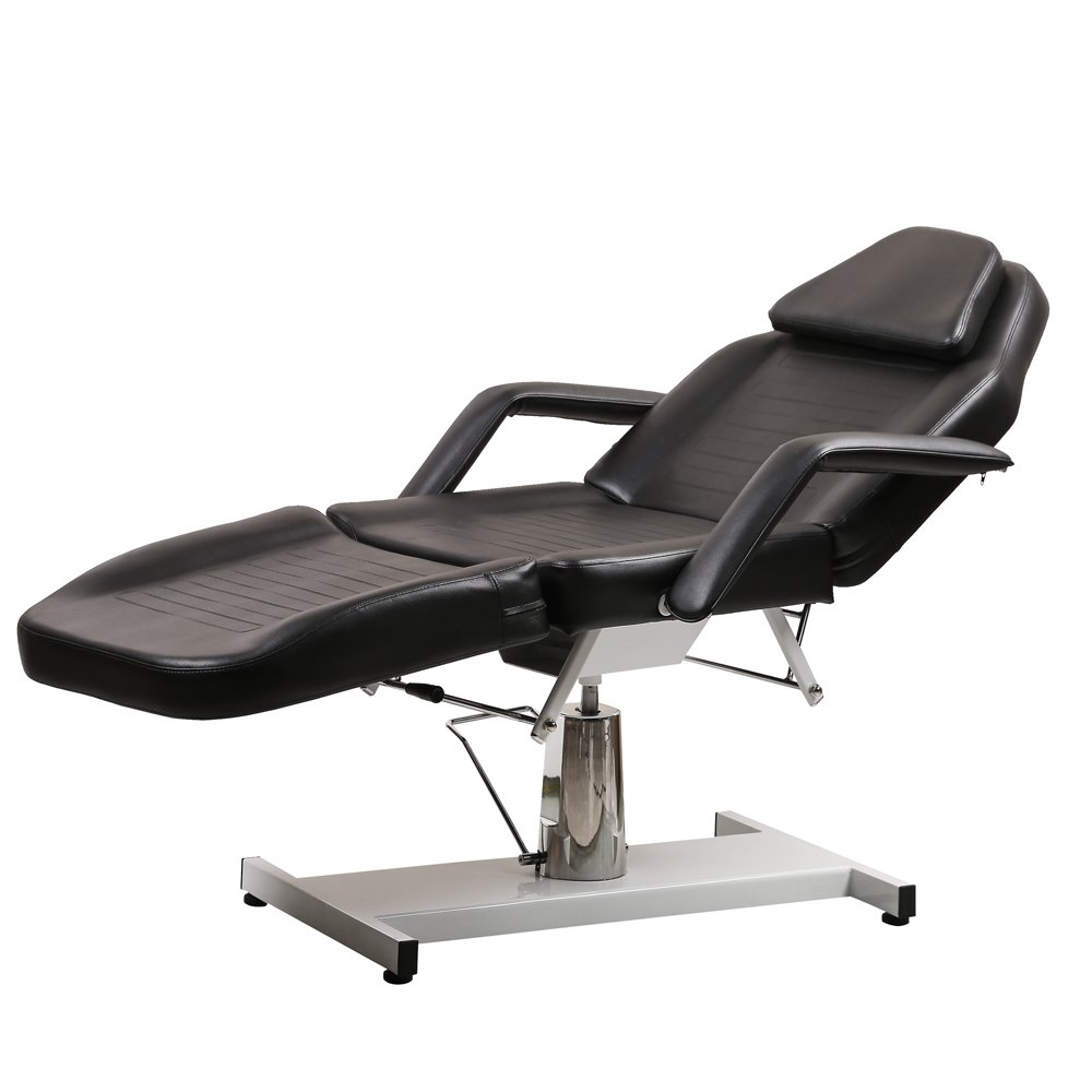 New ColdBeauty Black Facial Massage Table Bed Chair Beauty Salon Equipment