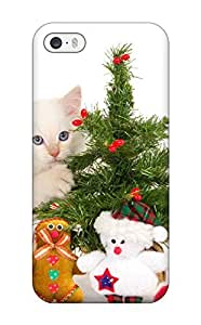 Premium Christmas Cat Back Cover Snap On Case For Iphone 5/5s