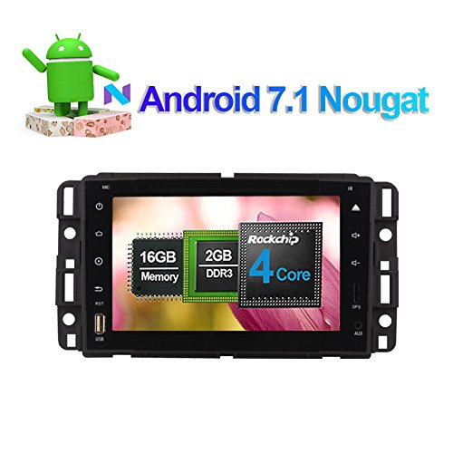 Flynavigo 8 Inch Android 7.1 Car Audio Stereo Quad Core Double Din CD DVD Player with Bluetooth GPS Navigation Touch Screen for GMC Yukon/Tahoe/Acadia 2007-2012 Support WIFI,USB SD,SWC (Screen Touch Buick)