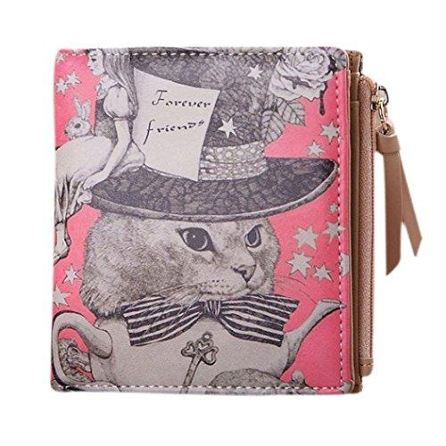 Kolylong Women Vintage Animals Coin Clip Purse Short Wallet Clutch Handbag...