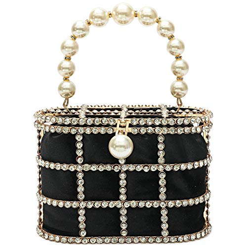 Evening Handbag Women Clutch Purses with Pearl Diamonds for Wedding Prom Birthday Party Dinner Accessories