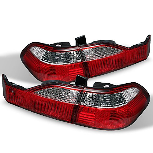 For Honda Accord 4 Door Sedan Red Clear Rear Tail Lights Brake Driver/Passenger Lamps