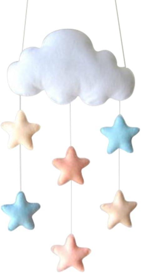 LUOEM Kids Room Decoration House Bedroom Hanging Pedants Cloud Raindrop Decor for Baby Shower (Star)