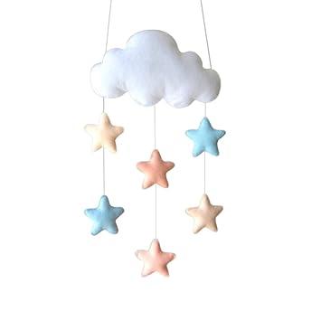 Colgante de decoración con forma de nube para habitación de niños de Oulii.