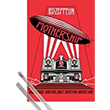 Poster + Hanger: Led Zeppelin Poster (36x24 inches) Mothership And 1 Set Of Transparent 1art1® Poster Hangers