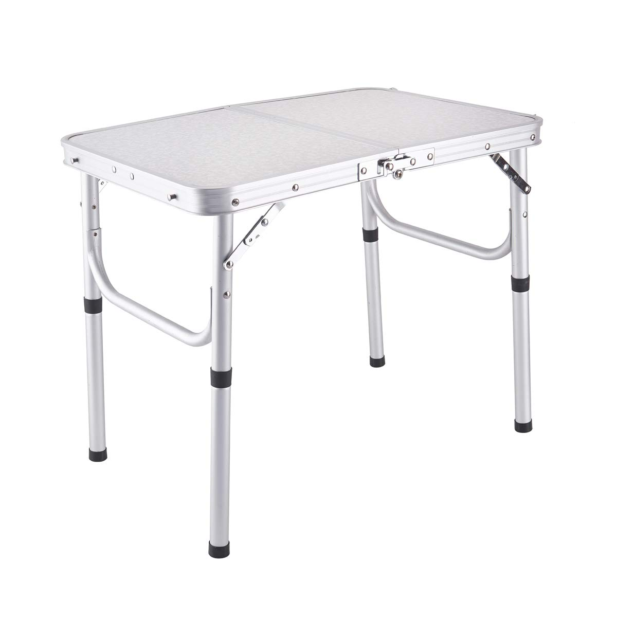 Yiren Lightweight Adjustable Portable Folding Aluminum Camping Table with Carry Handle by Yiren