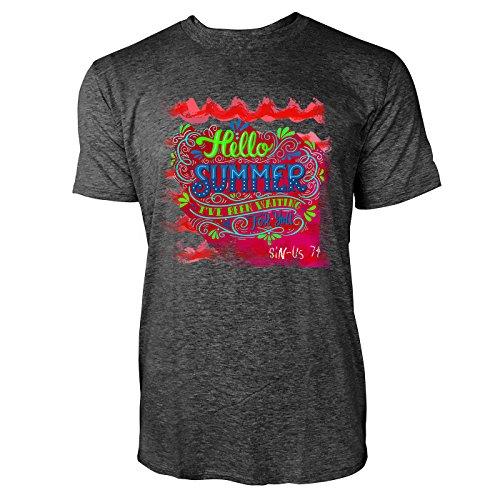 SINUS ART ® Hello Summer I've Been Waiting For You Herren T-Shirts in dunkelgrau Fun Shirt mit tollen Aufdruck