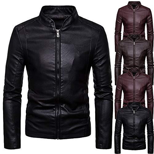 Friday Invernale E A Pelle Inverno 50 Honestyi Risvolto Black Jacket Zip Casual Uomo Off Nero Lunghe Calda Giacca Autunno Giacche Cappotto Maniche Retro Grigio 5SwaARIq