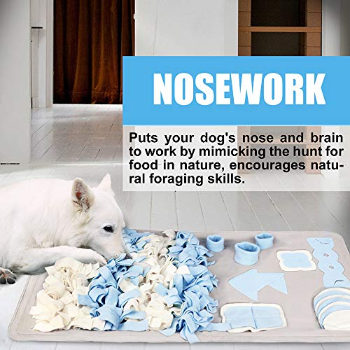 Snuffle Mat for Small Large Dogs Nosework Feeding Mat (23.6'' x 39.4'') Easy to Fill and Machine Washable Training Mats Pet Activity/Toy/Play Mat, Great for Stress Release - M by Stellaire Chern (Image #5)
