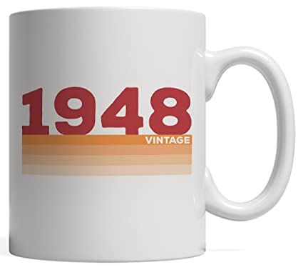 Vintage 48 70 Years Old Birthday Mug