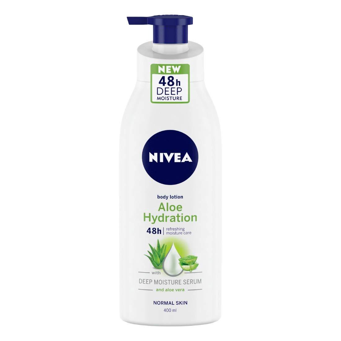 NIVEA Aloe Hydration Body Lotion, 400ml, with deep moisture