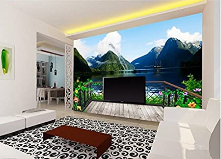 Wh Porp Beautiful Hd 3d Wallpaper Balcony View Advanced Bedroom
