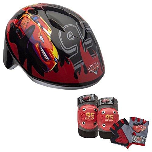 Disney Pixar Cars Toddler Kids Skate / Bike Helmet Pads & Gloves - 7 Piece Set ()