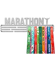 United Medals MARATHON, Sport Medaille Hanger Display | Geborsteld Roestvrij Staal houder medaillehanger (Max. 48 Medailles)