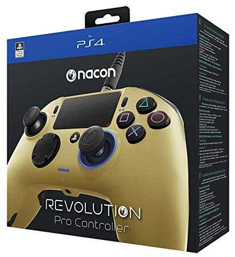 (NACON Revolution PRO Controller Gamepad Gold Edition PS4 Playstation 4 eSports Designed)