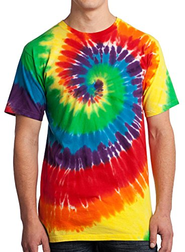 (GoldenGateTees Tie Dye T-Shirt Fun Beach Party Concert Tye Die Colortone Tee Rainbow XXL)