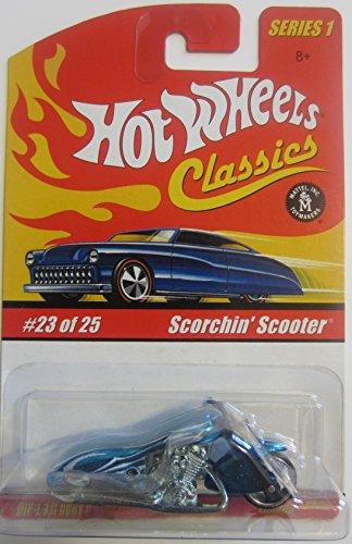 (Scorchin' Scooter Hot Wheels Classics Series 1 - Aqua 23 of 25)