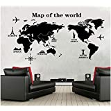 Miihome Removable Wall Sticker - Map Of The World