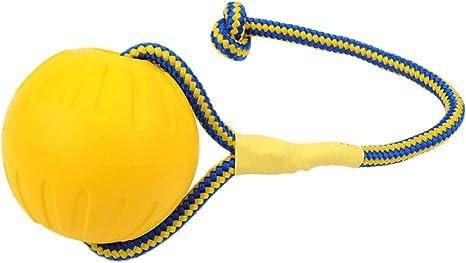 Xiuy Bounce Ball Bolas para Perros Pelota de Juguete con Cuerda elástica Goma Maciza Juguete Masticable Cuerda Cachorro: Amazon.es: Productos para mascotas