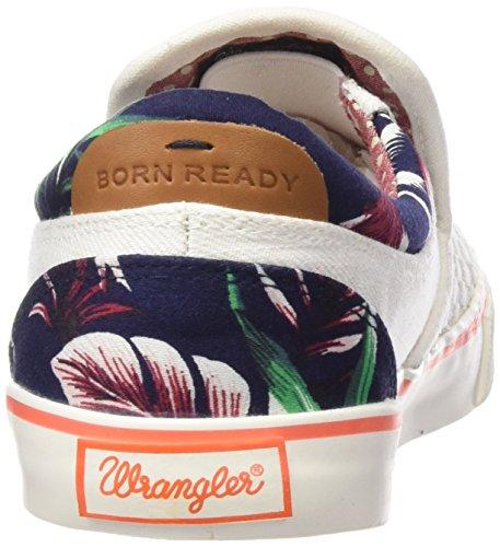 Wrangler Damen Icon Slip On Sneakers Weiß (98  Off White)