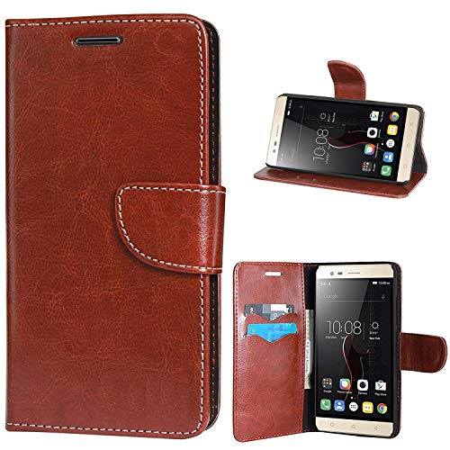 covernew vintage leather Flip Cover for samsung galaxy j7 prime   sm g610f   executive brown