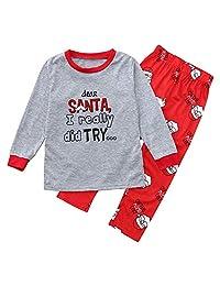 BETTERUU Set of Christmas Family Clothing Pajamas Set Sleepwear Pants Striped