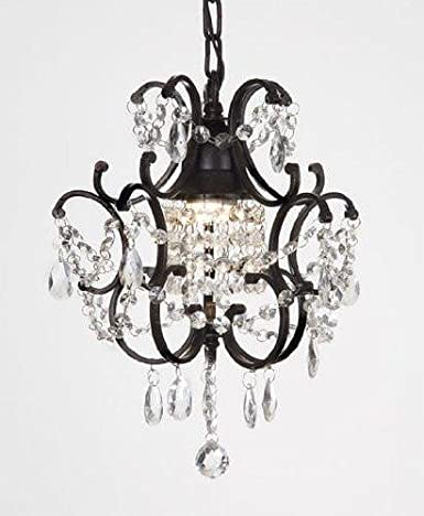Chandelier wrought iron crystal chandeliers h14 w11 small chandelier wrought iron crystal chandeliers h14quot aloadofball Image collections