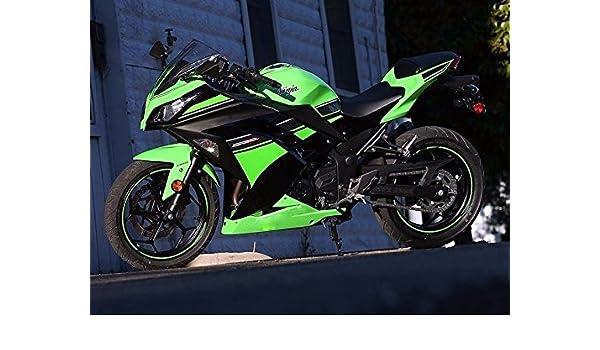 Green Black Complete Fairing Cowl Kit Injection for 2013-2017 Kawasaki Ninja 300 2014 EX300R EX-300R