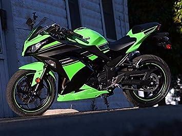 Green Black Complete Fairing Cowl Kit Injection For 2013 2017 Kawasaki Ninja 300 2014 Ex300r Ex 300r