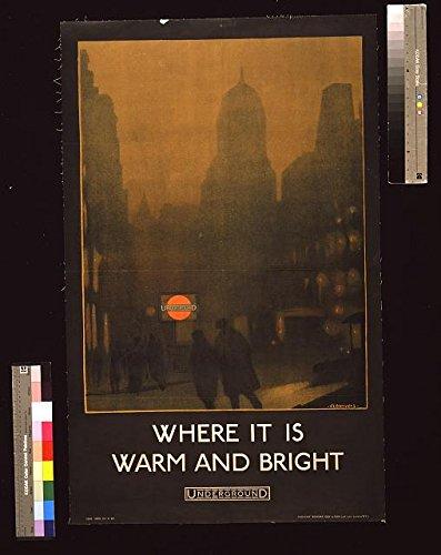 HistoricalFindings Photo: London Electric Railway,England,Dark & Misty Street Scene,Underground Station
