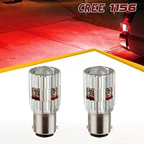 PartsSquare High Power 1156 7506 6000K Cree LED High Mount Central Stop 3rd Brake Light Bulb(Pack of 2 (Toyota Sienna Third Brake Light)