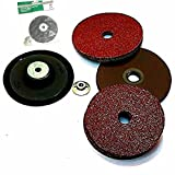 TOOLS CENTRE VALUE ADDED DEAL HITACHI 100MM(4') Rubber Backing Pad With Grinder Nut & 15 nos Fibre Disc/Sanding Disc For Sanding Sander Polisher/Angle Grinder M10