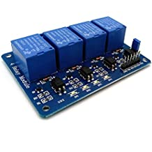 Amadget 4 Channel DC 5V Relay Module with Optocoupler for Arduino Raspberry Pi DSP AVR PIC ARM Ek1154