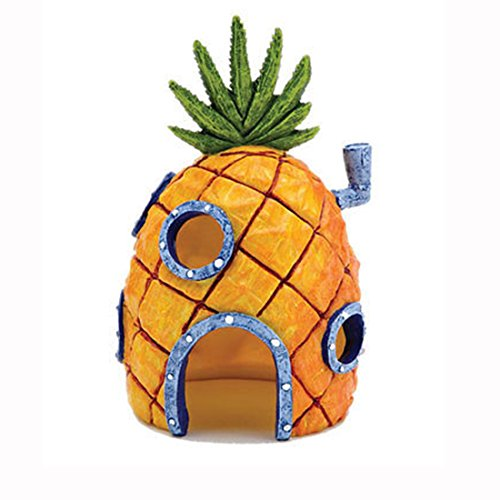 Pineapple House Fish Tank Aquarium Ornament Decorations Landscaping Cartoon Home Mini